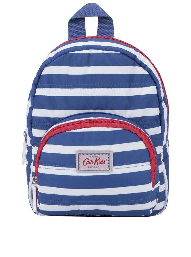 Rucsac alb/albastru cu dungi Cath Kidston pentru copii