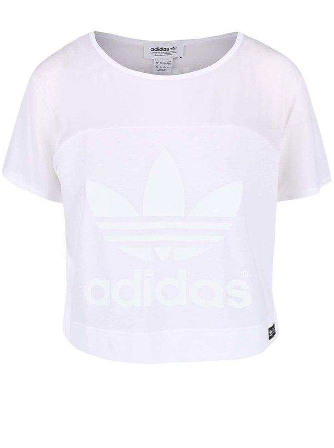 Bílé dámské krátké tričko adidas Originals Slit