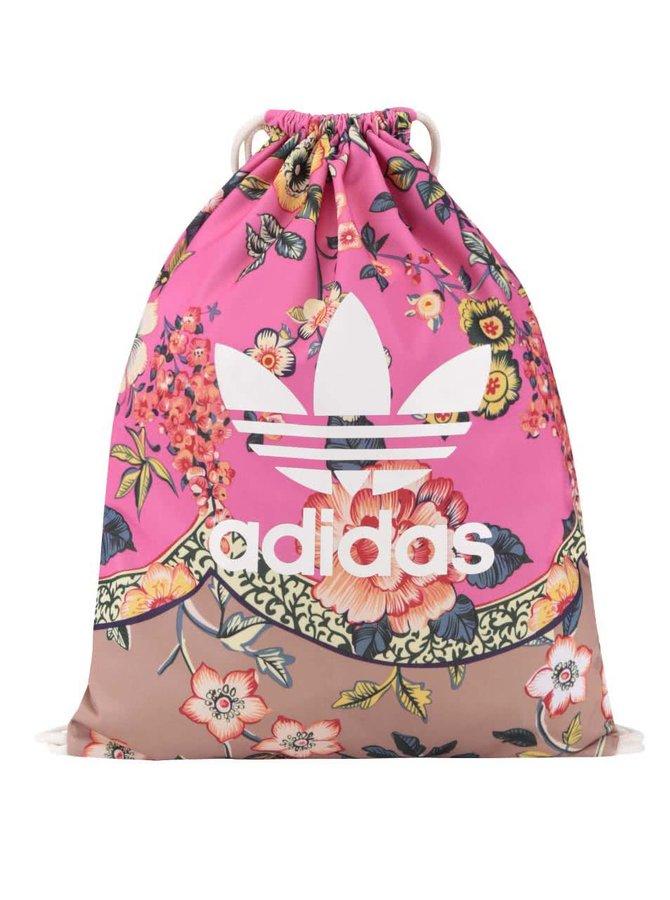 Růžový květovaný vak adidas Originals Jardineto