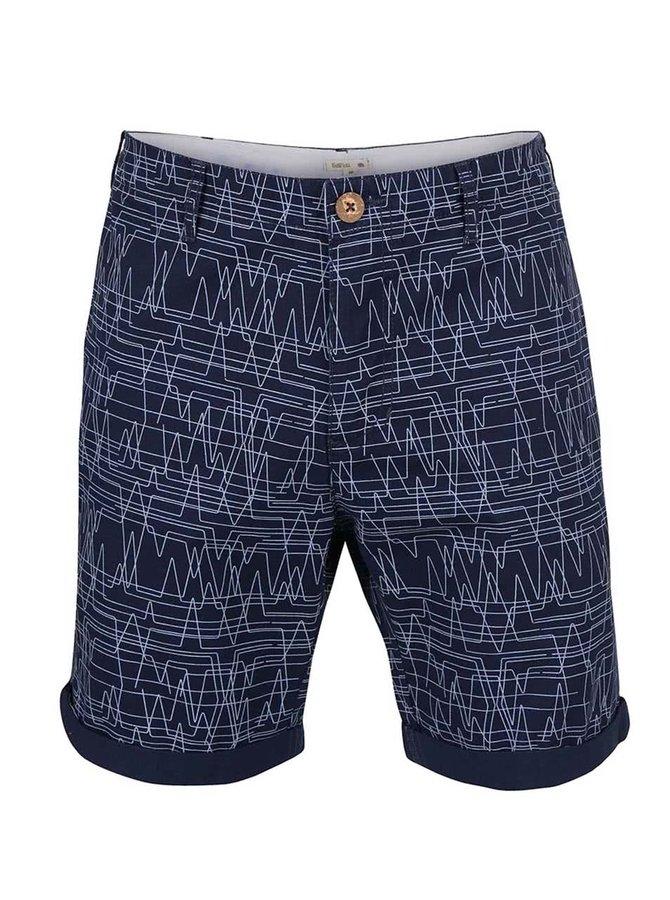 Pantaloni scurți Bellfield Hesett albastru închis cu model