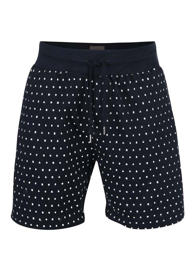 Pantaloni scurți bleumarin Bellfield Firestar cu model brodat