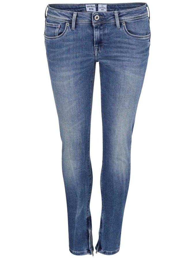 Modré dámske slim fit rifle Pepe Jeans Cher