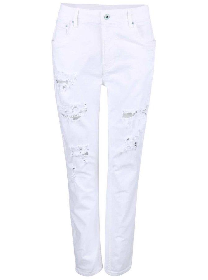 Blugi albi cu aspect uzat Pepe Jeans Vagabond