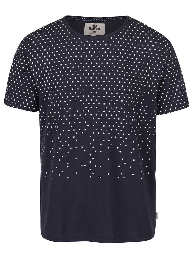 Tmavě modré triko s geometrickými vzory Bellfield Pascha
