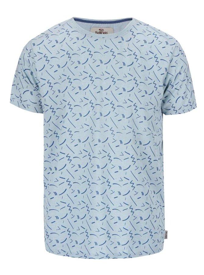 Modré vzorované tričko Bellfield Cosmos