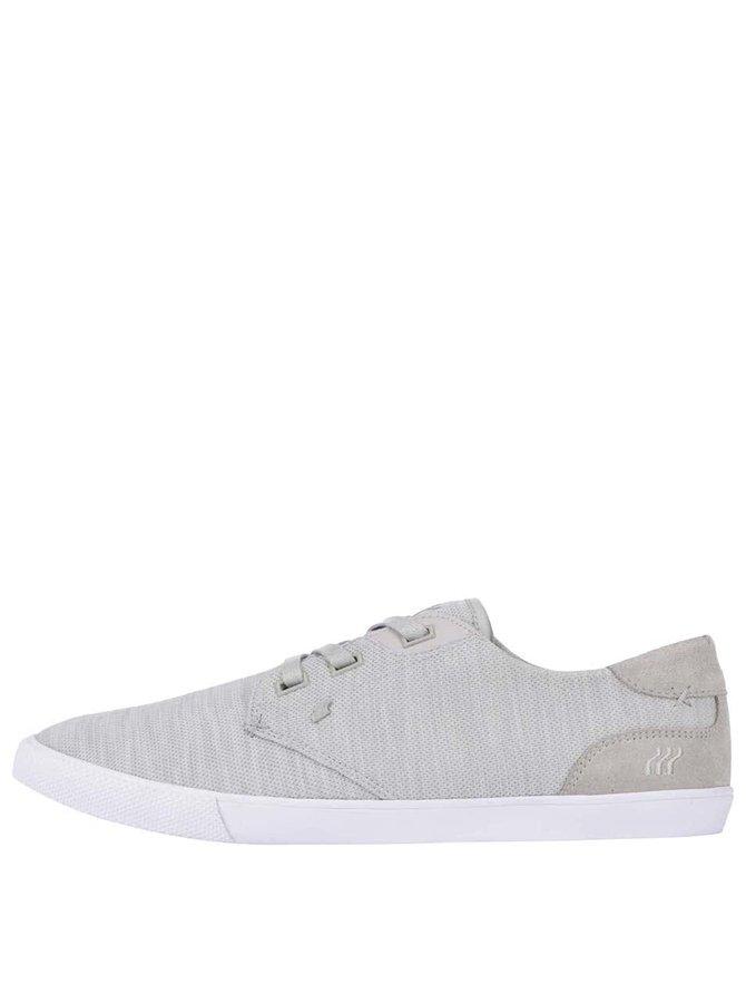 Pantofi sport cu detalii din piele Boxfresh Stern gri