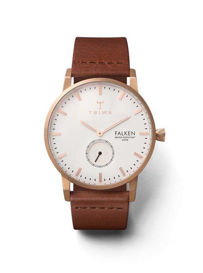 Hnědé kožené unisex hodinky TRIWA Rose Falken