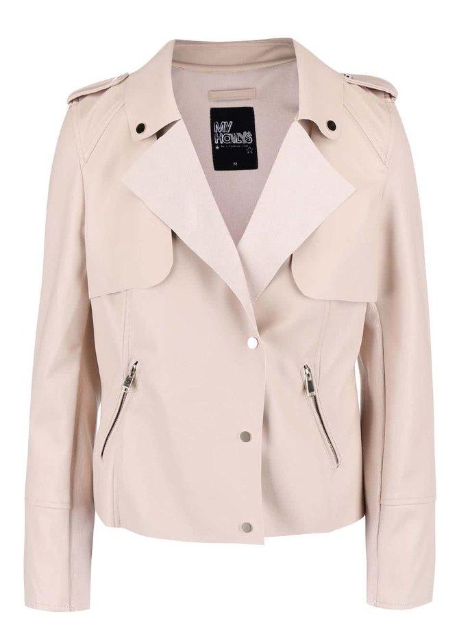 Jachetă crem Haily´s June din piele sintetică