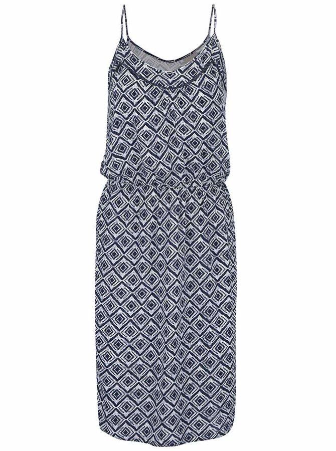 Bílo-modré vzorované šaty VERO MODA Super