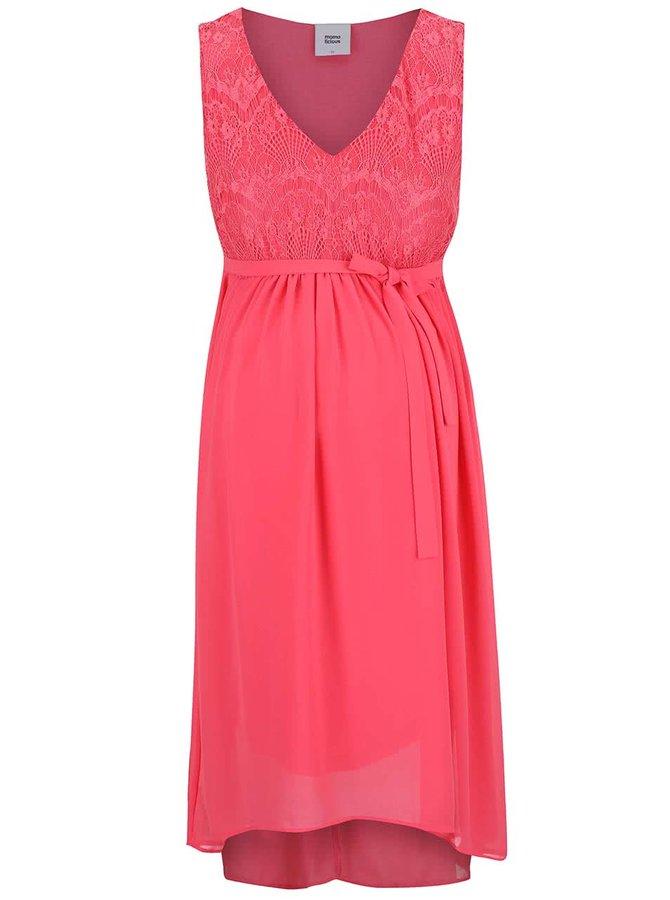 Ružové tehotenské šaty Mama.licious Disa