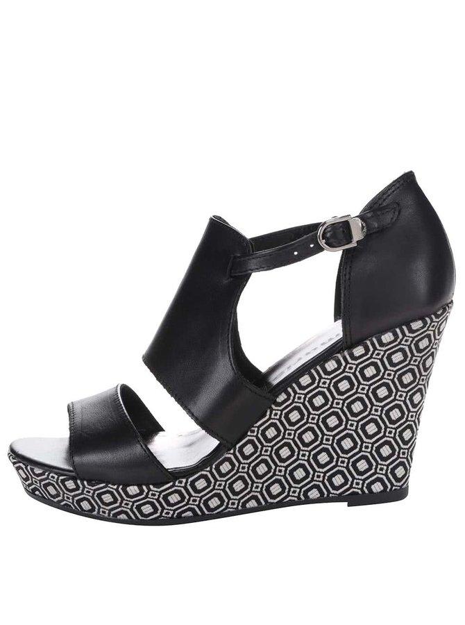 Sandale cu platformă Tamaris din piele cu model