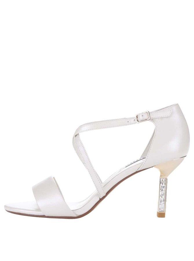 Bílé třpytivé  sandálky na podpatku Dune London Mindee