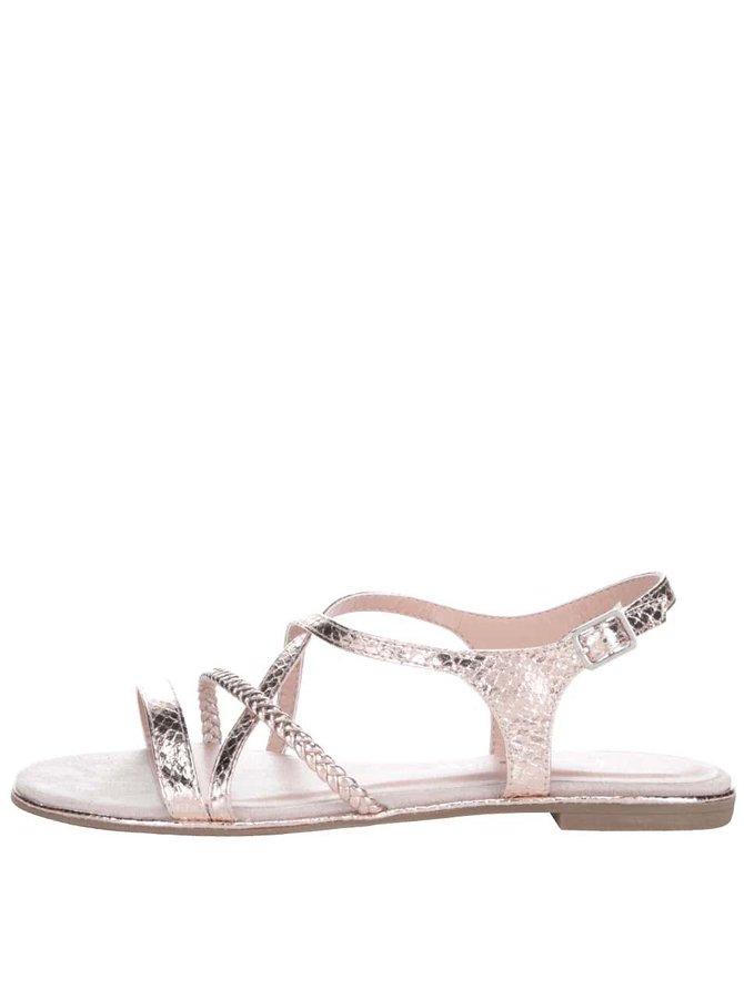 Ružovozlaté sandálky s remienkami Tamaris