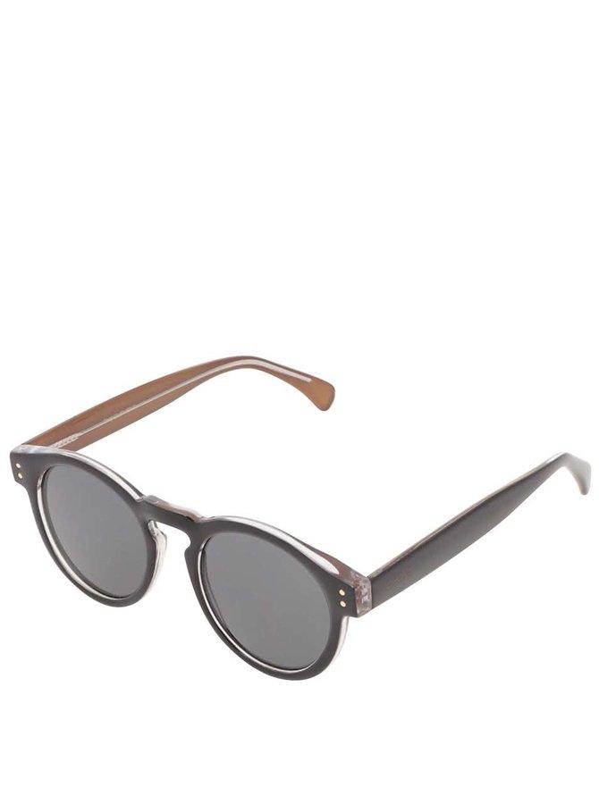 Béžovo-černé unisex sluneční brýle Komono Clement