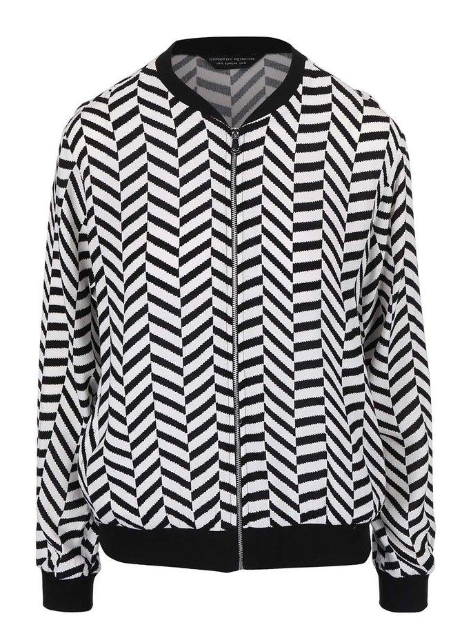 Jachetă bomber Dorothy Perkins alb cu negru