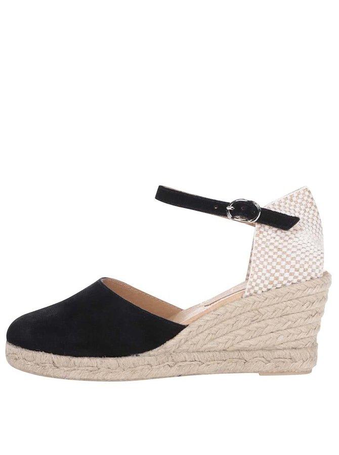 Sandale din piele întoarsă OJJU cu platformă negre