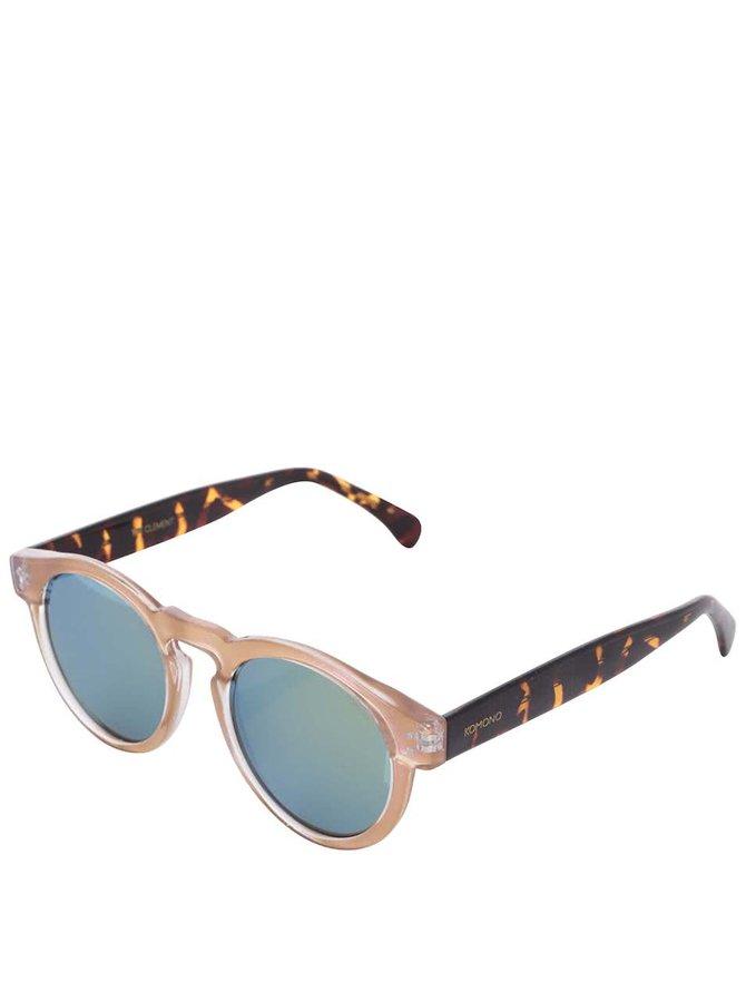 Světle růžové unisex sluneční brýle Komono Clement