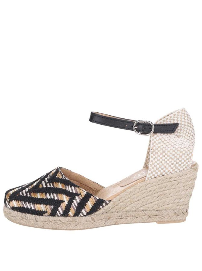 Sandale negru/bej OJJU