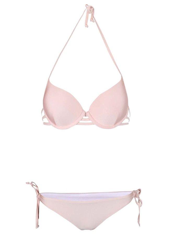 Světle růžové dvoudílné plavky Relleciga