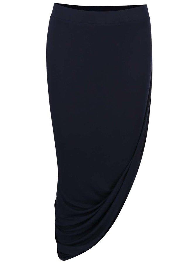 Tmavě modrá asymetrická sukně ONLY Thelma