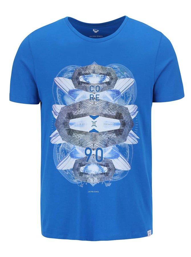 Modré tričko s potlačou Jack & Jones Clayton