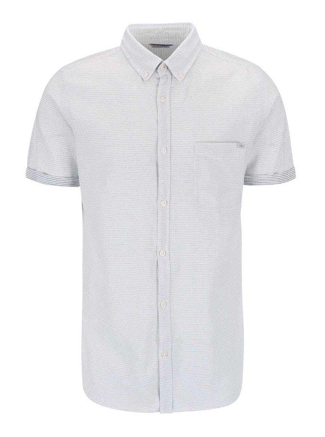Modro-biela košeľa s drobným vzorom Jack & Jones Indigo