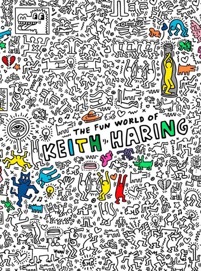 Poster de colorat Keith Haring OMY