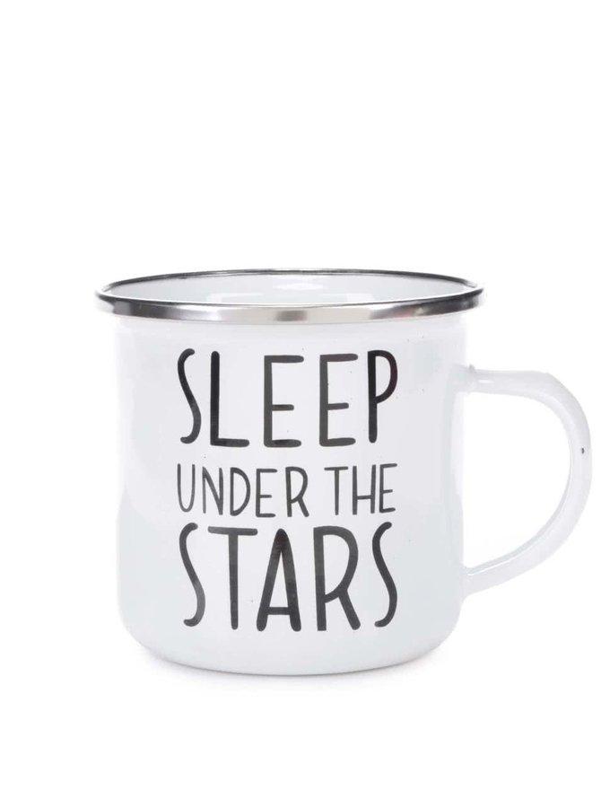 Biely plechový hrnček Sass & Belle Sleep Under The Stars