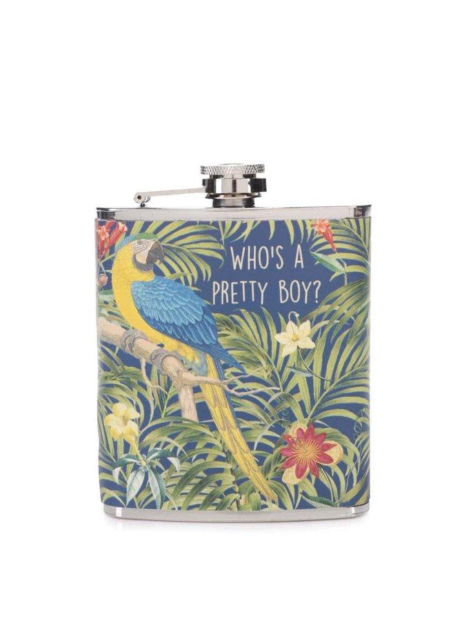 Zeleno-modrá placatka s papouškem Sass & Belle Who´s A Pretty Boy