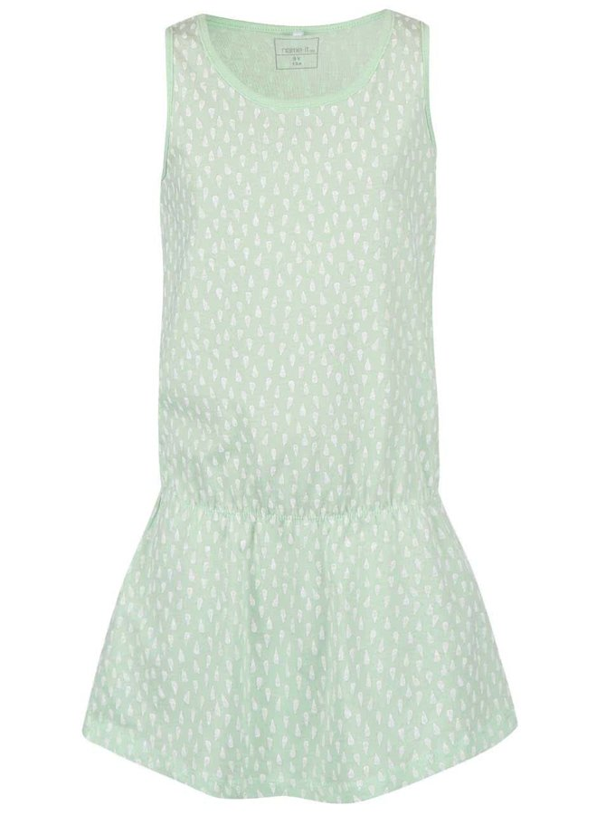 Světle zelené vzorované holčičí šaty name it Vigga