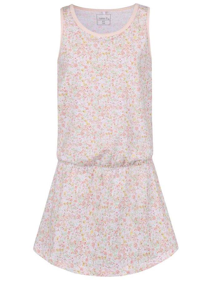 Bílé květované holčičí šaty name it Vigga