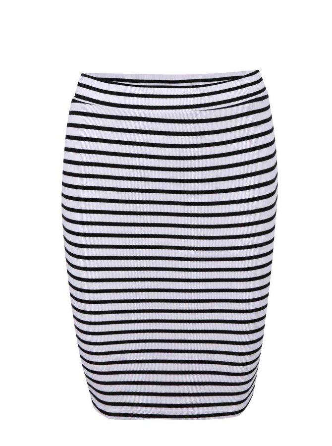 Černo-bílá pruhovaná sukně VILA Wake