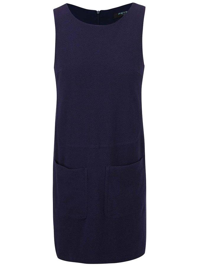 Tmavě modré rovné šaty Fever London Brooke
