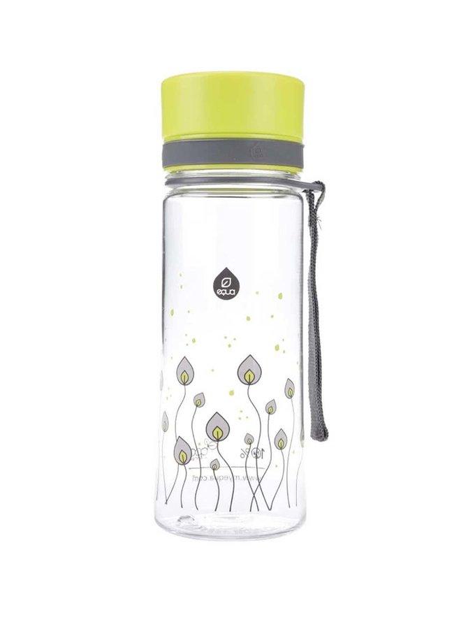 Plastová fľaša s motívom zelených listov EQUA (400 ml)
