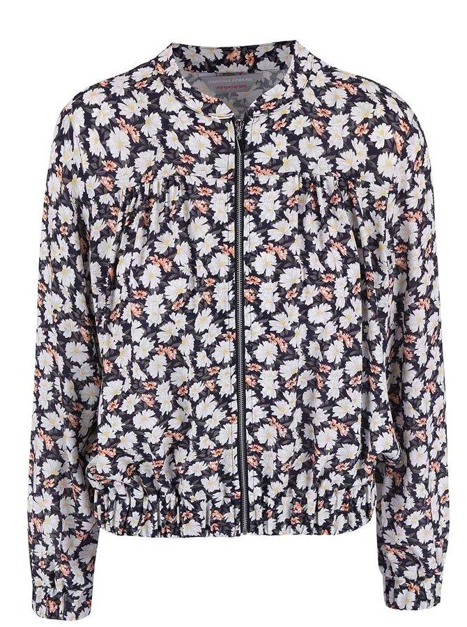 Jachetă Dorothy Perkins Petite albastră cu imprimeu