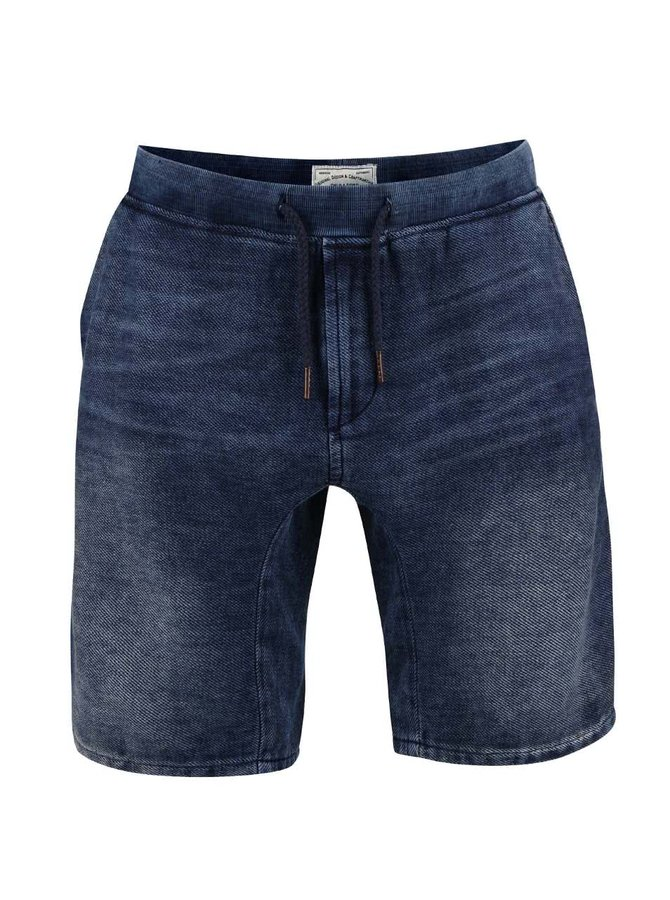 Tmavě modré džínové kraťasy ONLY & SONS Teik