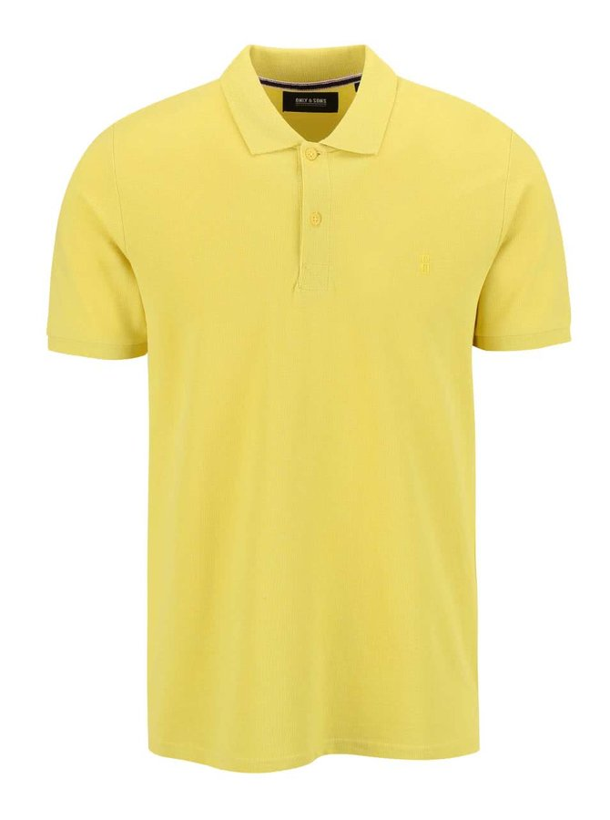 Tricou Polo ONLY & SONS Pique galben