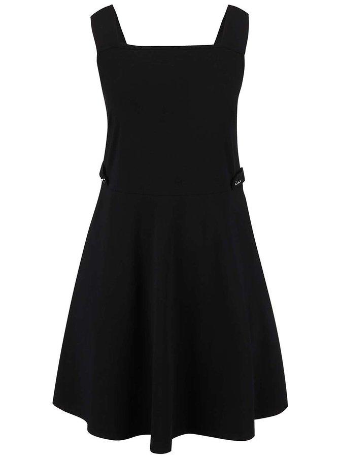 Černé šaty s širšími ramínky Dorothy Perkins Curve