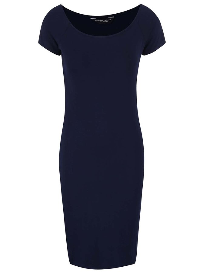 Tmavě modré šaty s širokým výstřihem Dorothy Perkins