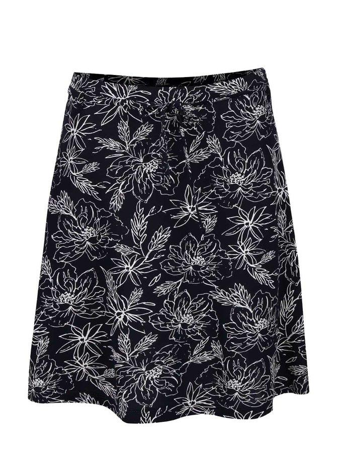 Tmavomodrá kvetovaná sukňa Broadway Muriel