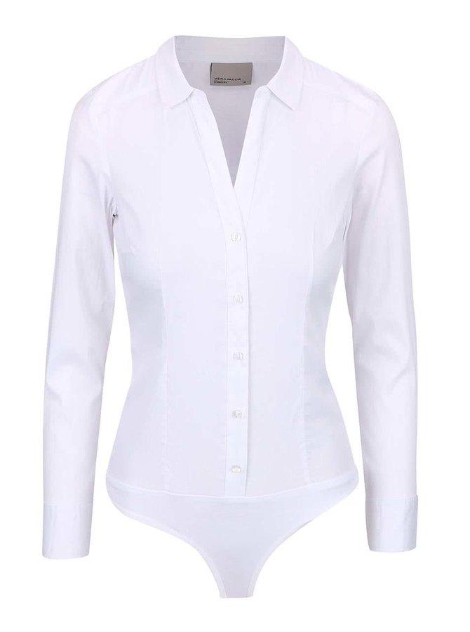 Biele košeľové body Vero Moda Lady