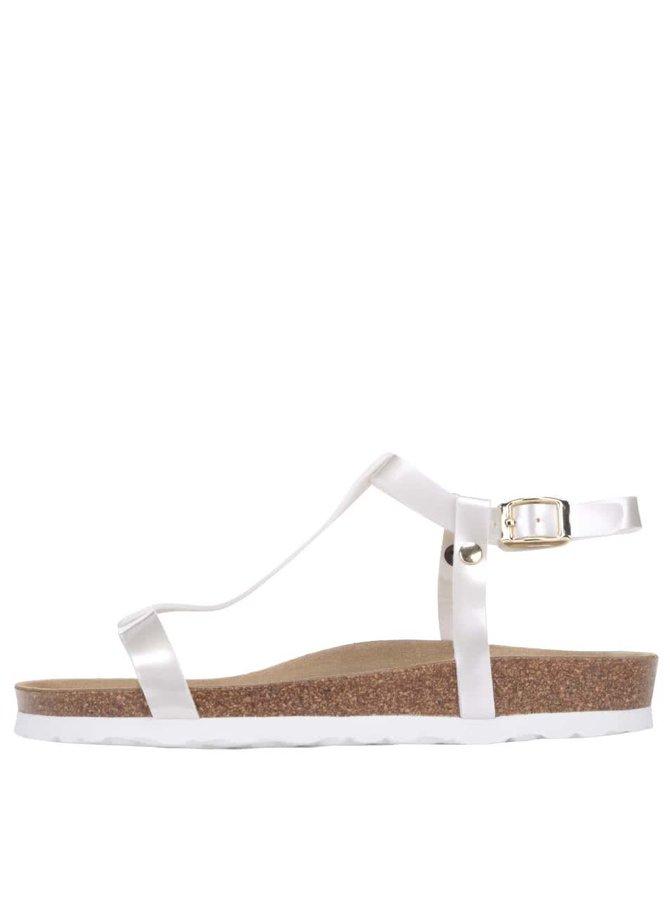 Bílé lesklé dámské sandály OJJU