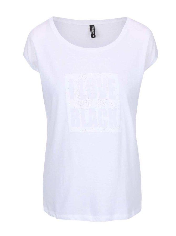 Tricou Madonna alb cu aplicații