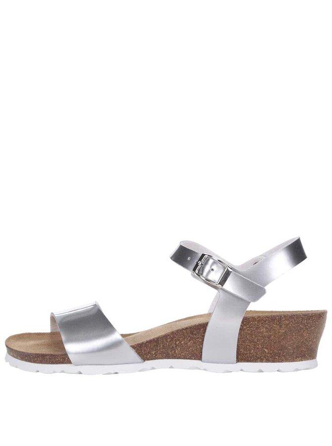 Sandale cu platformă OJJU argintii