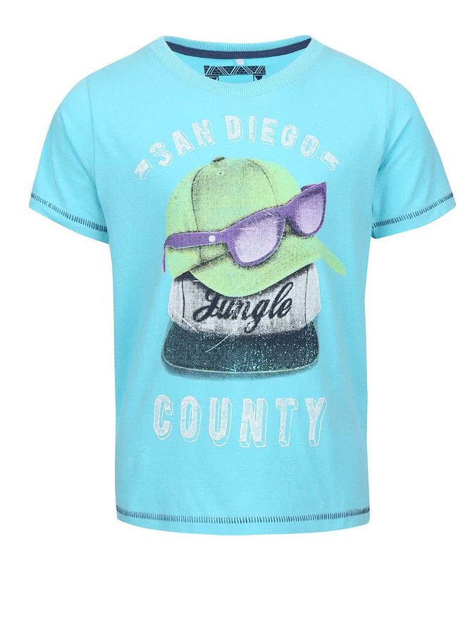 Tyrkysové chlapčenské tričko so šiltovkami name it Ticap