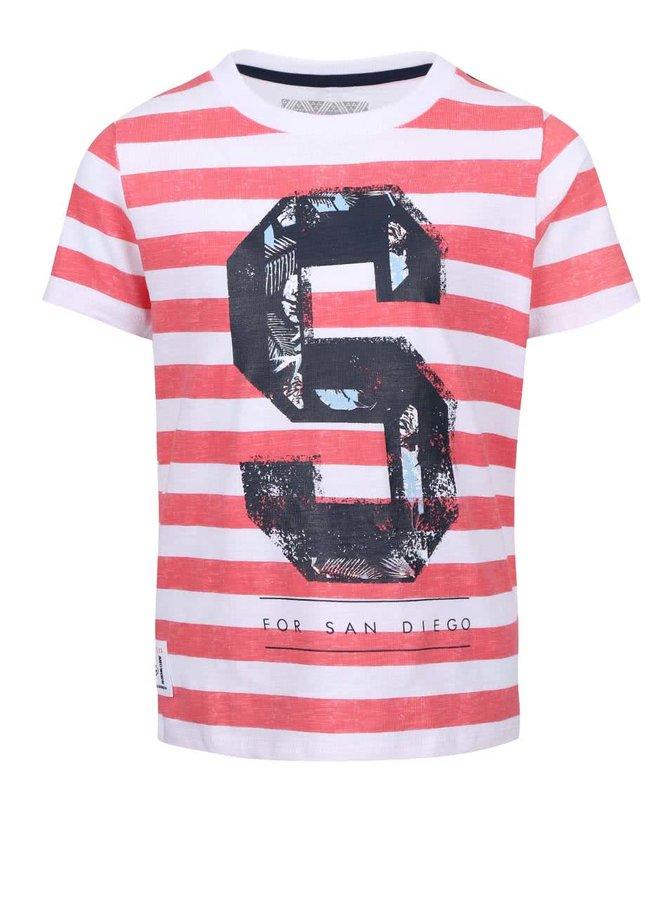 Tricou băieți Name it Tian roșu cu dungi