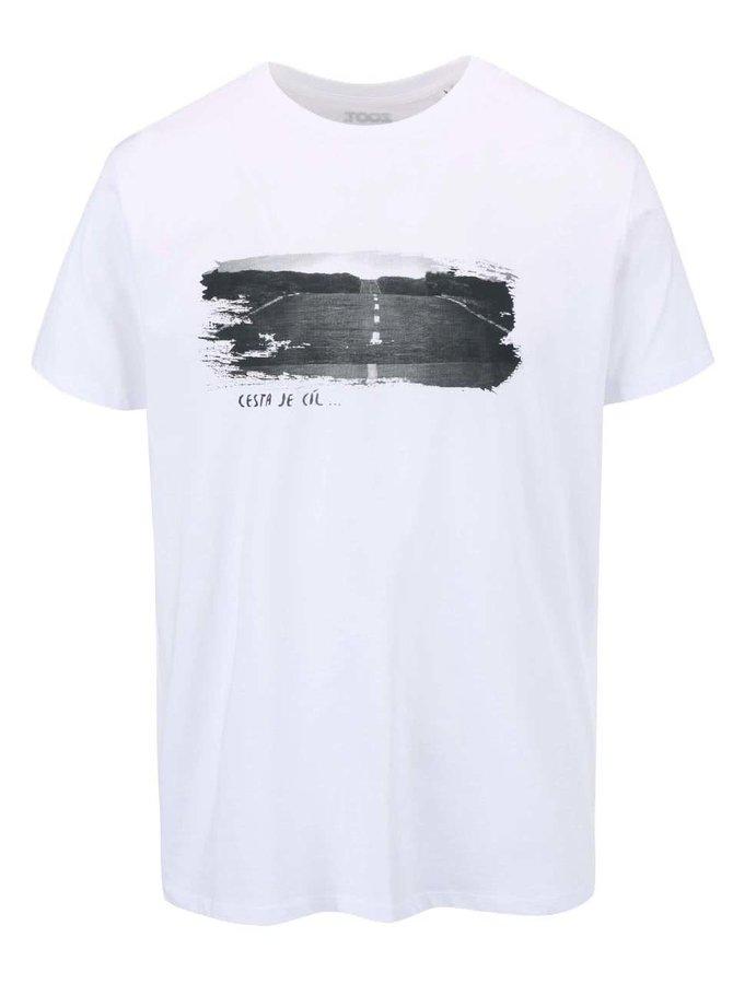 Bílé pánské triko ZOOT Originál Cesta je cíl