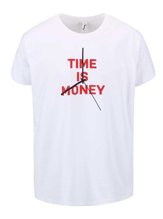 Bílé pánské triko ZOOT Originál Time Is Money