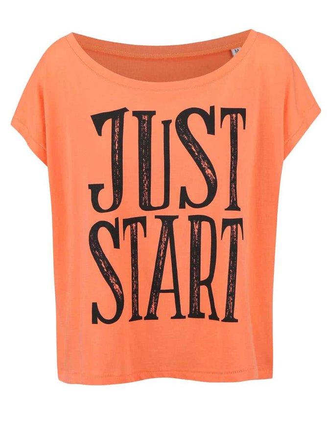 Korálové dámské volnější tričko ZOOT Originál Just Start