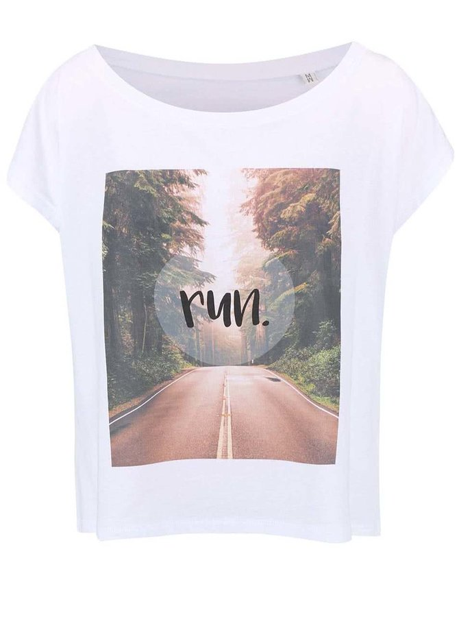 Biele dámske voľnejšie tričko ZOOT Originál Run